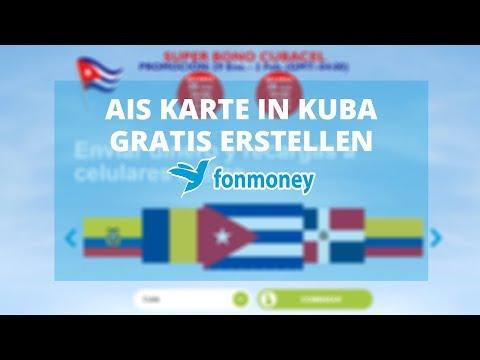 Karte Kuba.Ais Karte In Kuba Mit Fonmoney Gratis Erstellen Youtube