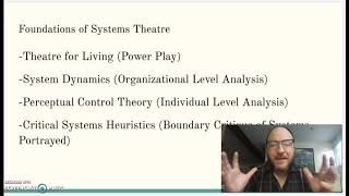 Tom Scholte: A Cyber-Systemic Approach to Forum Theatre - WOSC 2020