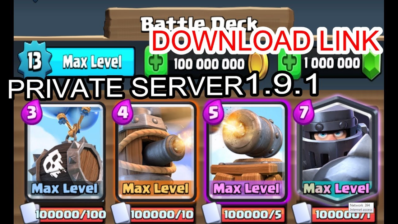 how to make a private server clash royale