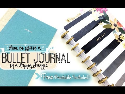 Free Printable! + How to Start a Bullet Journal in a Happy Planner (DIY)