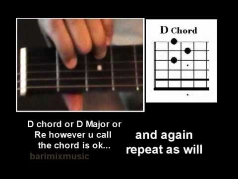 guitar 4 chords key of D.   D - A - Bm - G