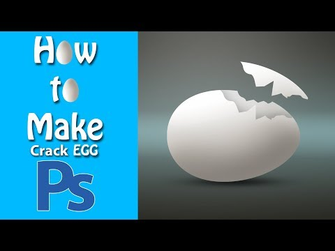 How To Make Crack Egg Design In Photoshop By Somnathphotography