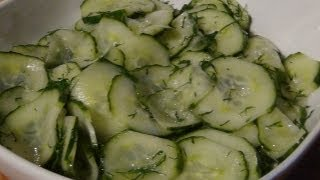 Cucumber And Dill Salad ( Recipe )