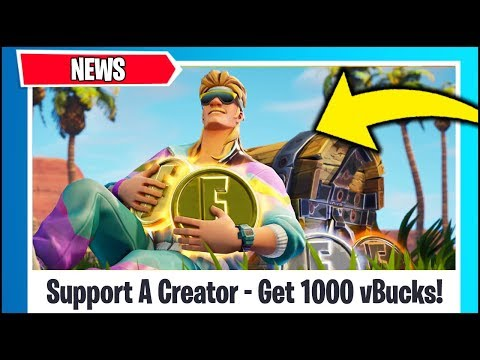 *NEW* Fortnite UPDATE - SUPPORT A CREATOR - GET 1000 vBUCKS FOR FREE (PROMOTIONAL EVENT)