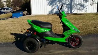 150cc Spiral Trike Scooter Moped For Sale