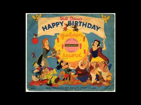 Walt Disney S Happy Birthday 1950 Yellow Vinyl Vinyl Discogs