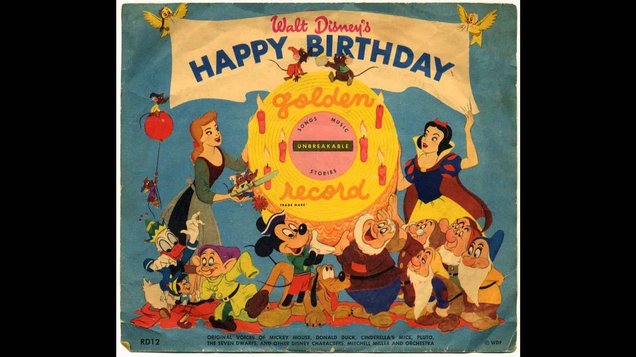 Walt Disney's Happy Birthday (Golden Records) - YouTube