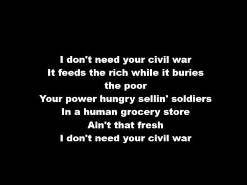 Civil war - Myles kennedy ft.Slash acoustic lyrics