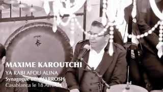 Maxime Karoutchi- Soirée du 18 Avril 2013 - Synagogue Benarosh Casablanca