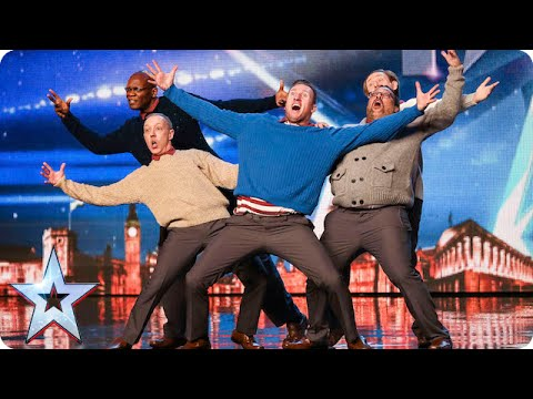 Old Men Grooving bust a move, and maybe their backs! | Britain's Got Talent 2015 thumbnail