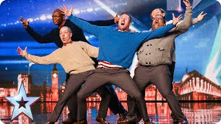 Old Men Grooving bust a move, and maybe their backs! | Brita...