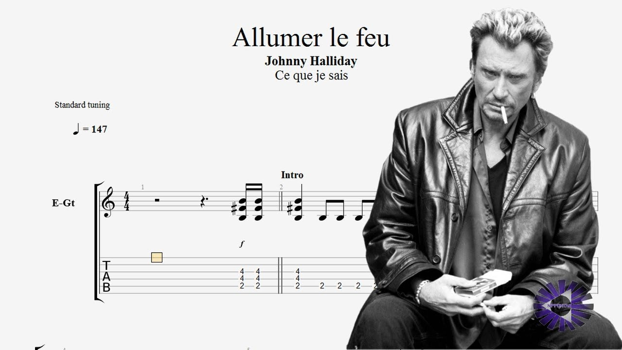 guitare allumer le feu guitar tablature tab johnny hallyday by nippontab youtube. Black Bedroom Furniture Sets. Home Design Ideas