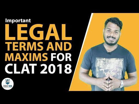 Learn Legal terms and maxims for CLAT 2018