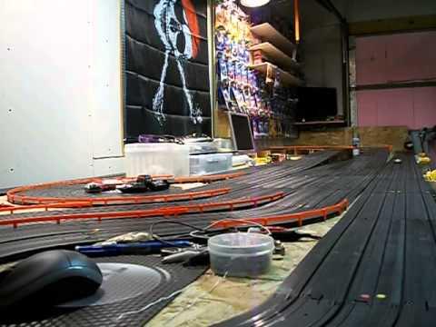 afx tyco ho slot car home track youtube. Black Bedroom Furniture Sets. Home Design Ideas