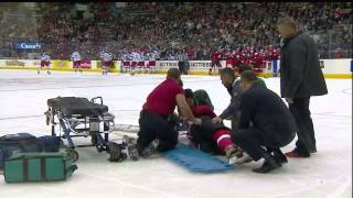 Anatoli Golyshev Blindside Hit On Phil Baltisberger 5 Minute Major December 28th 2014 HD
