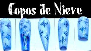 UÑAS NAVIDEÑAS Copos de nieve (EXPLICADO) / CHRISTMAS NAIL ART
