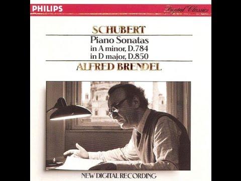 Franz Schubert, Piano Sonata D-major D. 850, Alfred Brendel