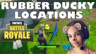 Fortnite: Search Rubber Duckies. Rubber Ducky Locations!