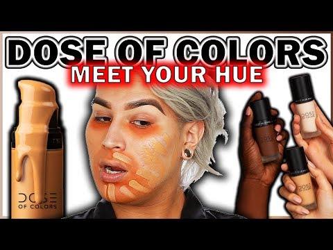 DOSE OF COLORS Meet Your Hue Foundation Honest AF Review