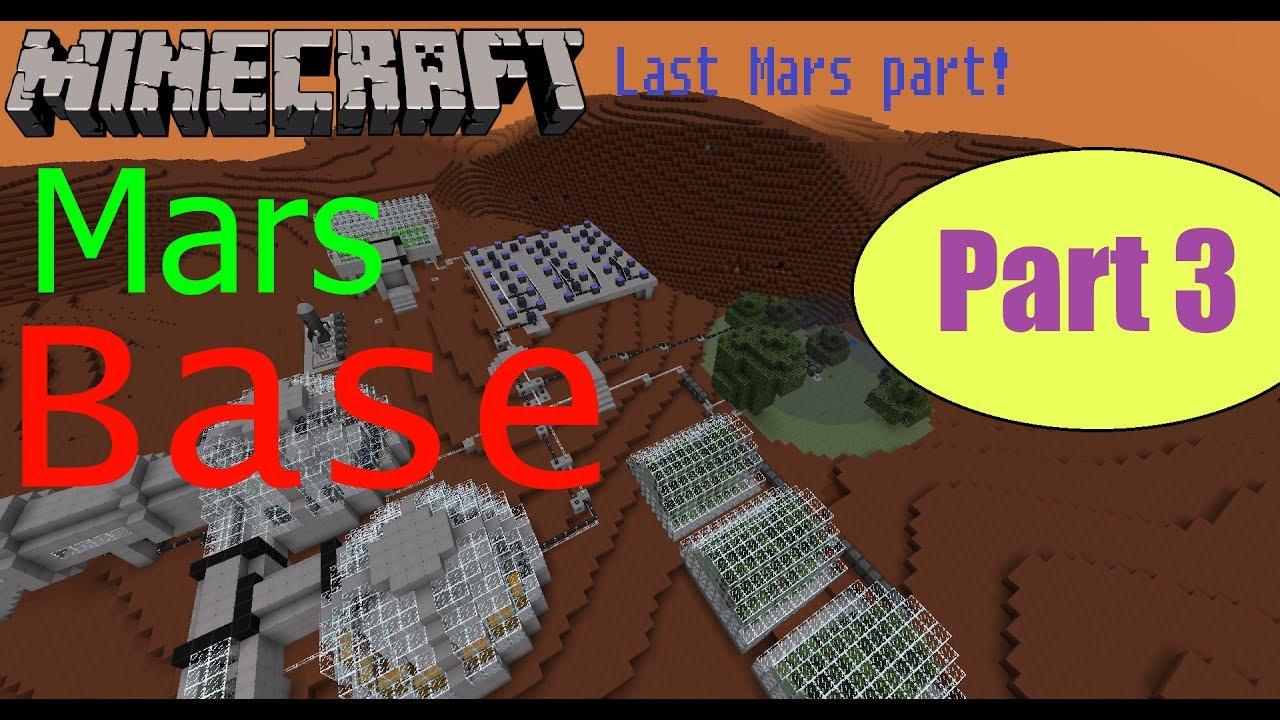 Finishing the BASE ON MARS in MINECRAFT! - YouTube