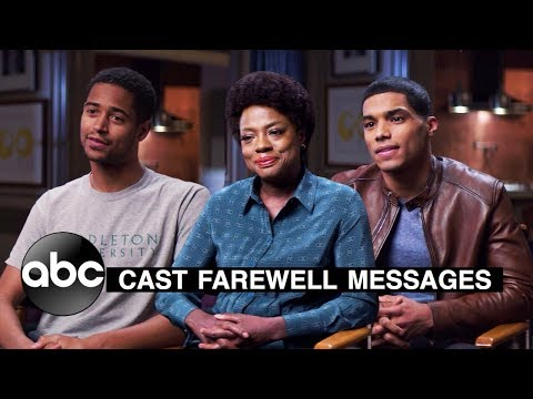 How To Get Away With Murder Season 6 (ABC) Emotional Goodbye Messages From The Cast