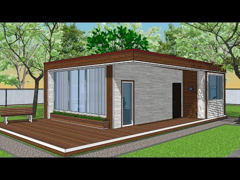 Проект дома 7 на 10 | Планировка 50 квадратов