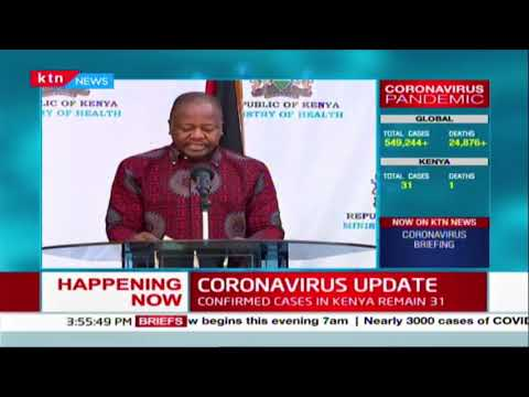 CS Kagwe: From March 29th we will embark on mass testing on 2000 persons under mandatory quarantine