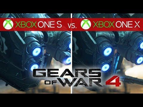 Gears of War 4 Comparison: Xbox One X 4K vs  Xbox One X