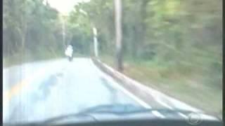 Acidente de Moto na Estrada