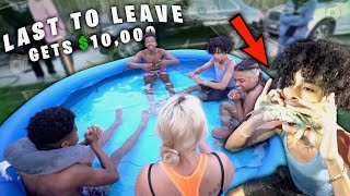 LAST TO LEAVE THE POOL GETS $10,000! *WE PUT A S.H.A.R.K. IN IT!*