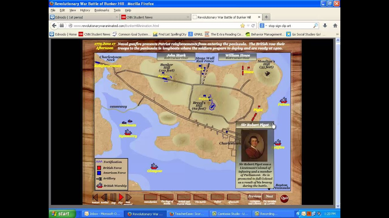 Ch 6 sec 3 animated battle of bunker hill youtube ch 6 sec 3 animated battle of bunker hill gumiabroncs Images