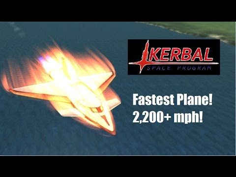 Kerbal Space Program | Plane Speed Record Attempt! (2,200+ mph)