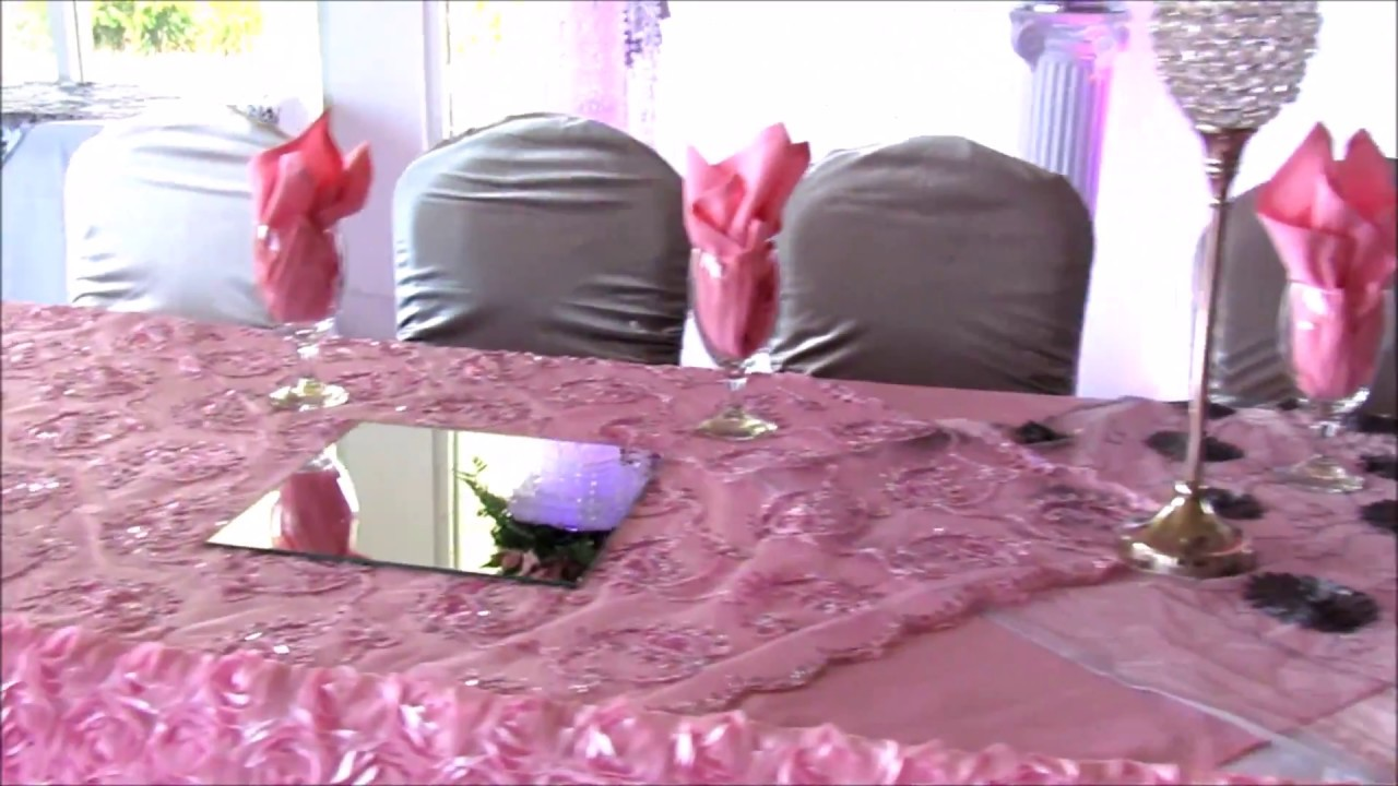 Faos events decoracion color rosa blanco negro y plata - Decoracion blanco y negro ...