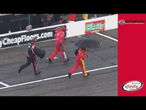 Rain Brings Out Red Flag at New Hampshire Motor Speedway