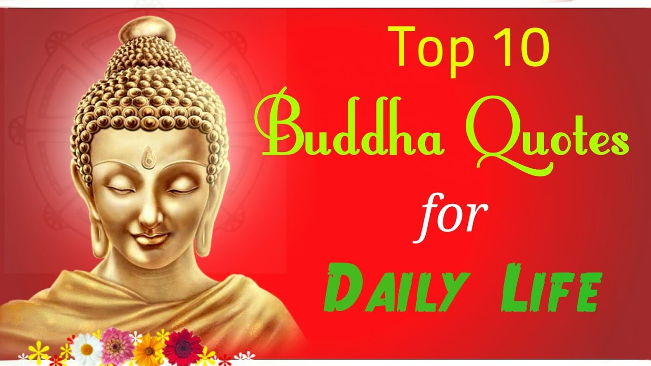 Top 10 Buddha Quotes For Daily Life Youtube