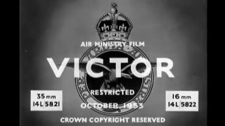 Handley Page Victor Bomber Recognition 1950's RAF Training Film