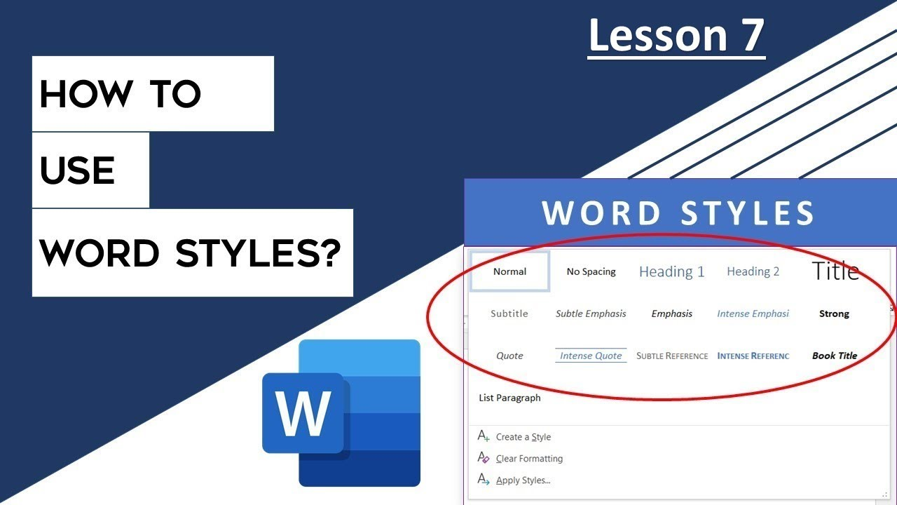 How to use Styles in Microsoft Word 2016 Tutorial | The Teacher - YouTube
