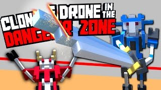ROBOT SWORD FIGHTING ARENA - Clone Drone in the Danger Zone #1