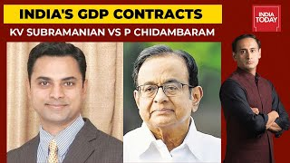 Biggest Contraction In India's GDP: KV Subramanian Vs P Chidambaram   Newstrack (Full Video)