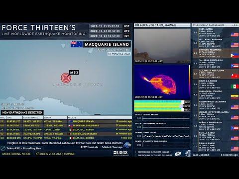 2020-12-22 01:47:40 UTC | M 5.2 - Macquarie Island | Force Thirteen Earthquakes