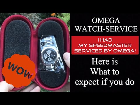 Here's what service you can expect from letting Omega service your watch at their service centers