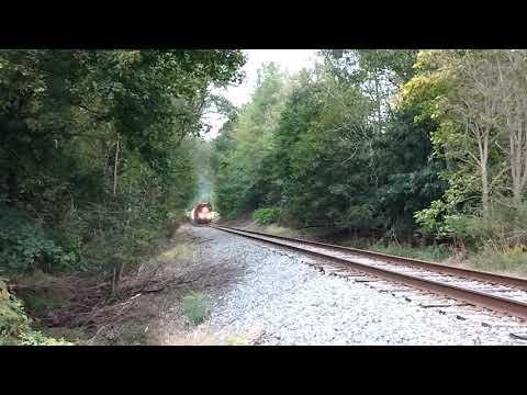 RJ Corman Corn Train through Curwensville PA