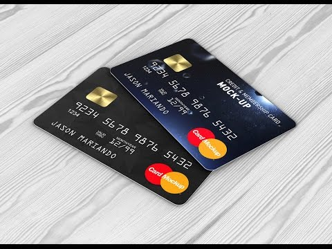 Credit Card Mockup Bank Card Mock Up Youtube