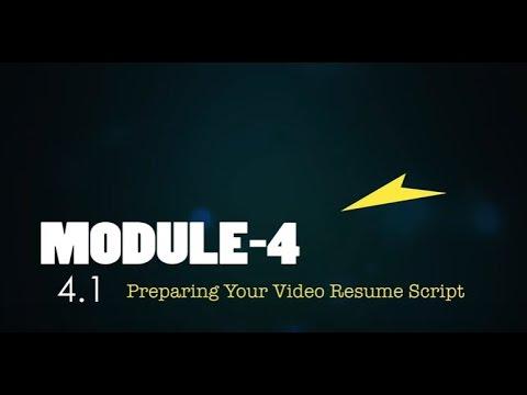 41 Preparing Your Video Resume Script - NextGen Resumes - YouTube - video resume script