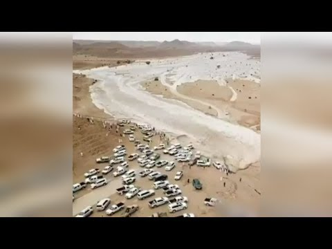 Unbelievable Dry River Bed Flooded | River Appears Suddenly |
