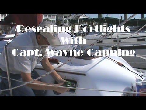 Resealing or Rebedding Portlights, Boat Repair, Sealing portlights
