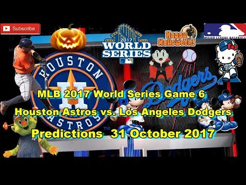 World Series 2017 Houston Astros vs Los Angeles Dodgers MLB Game 6 Predictions MLB The Show 17