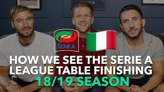 Serie A League Table Prediction 2018/2019