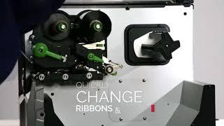 видео Промышленный принтер этикетки