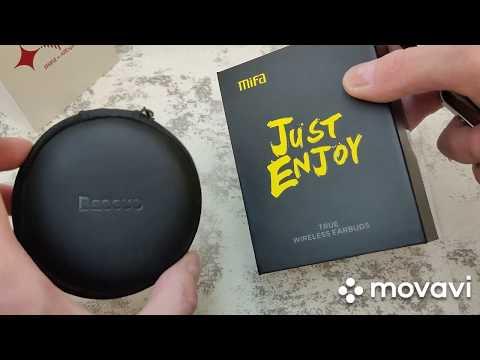 Беспроводные наушники в стакане или MiFa X8 TWS Earbuds  Bluetooth 5.0 Vs Baseus S06